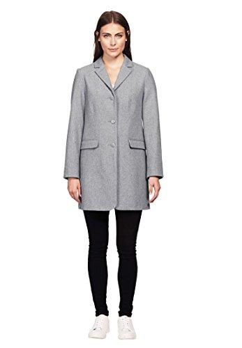 Ellos Women's Plus Size Long Wool Blend Blazer Heather (Lined Wool Blazer)