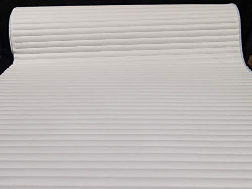 Pleated Marine Vinyl Upholstery Fabric Bright White 54'' Wide by 10 Yards Boat Auto by Bry-Tech Marine1 (Image #1)