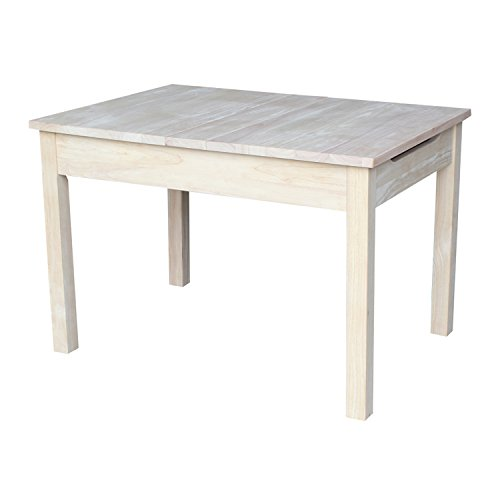 - International Concepts Unfinished Table with Lift Up Top for Storage