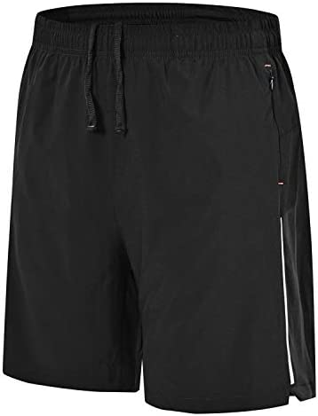 Details about  /Men/'s Running Sports Shorts with Liner Quick-Drying Breathable Black
