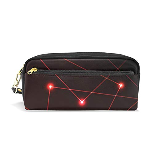 (Pencil Case Pencil Bag Abstract Art Pattern Optics Electronics Machine Technology Circuit Makeup Bag Pouch Case Cosmetic Travel School Bag)