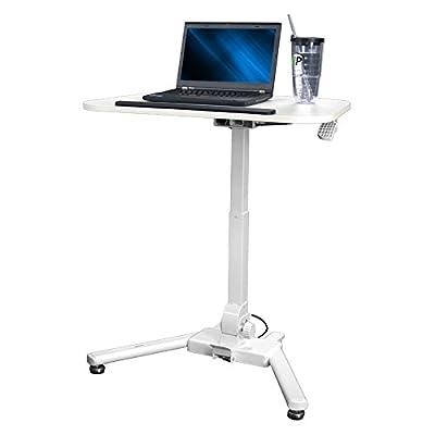 NavePoint Height Adjustable Folding Compact Mobile Laptop Desk Portable Standing Workstation