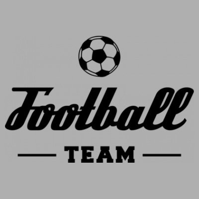 Sudadera con capucha de mujer Football Team by Shirtcity Gris granulado