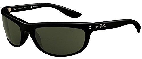 Ray-Ban Balorama RB 4089 Sunglasses Black / Crystal Green Polarized (60158) 62mm & HDO Cleaning Carekit - Rayban Balorama