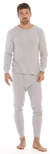 At The Buzzer Thermal Underwear Set For Men 95962-Grey-L by At The Buzzer