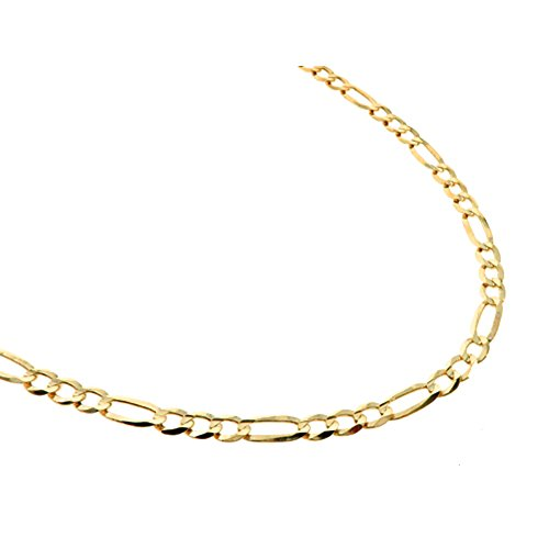 "10K Yellow Gold 30"" (Inch) 3mm Mens Figaro Chain Hip Hop Style Necklace (5mm Width) by Traxnyc"