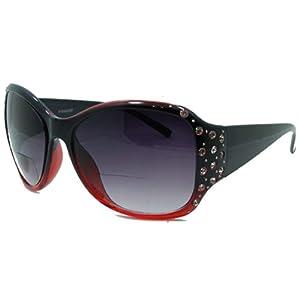 In Style Eyes Crown Jewels Womens Designer Bifocal Sunglasses/red/1.25