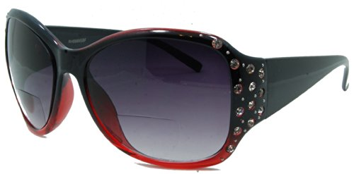 In Style Eyes Crown Jewels Womens Designer Bifocal Sunglasses/red/1.25
