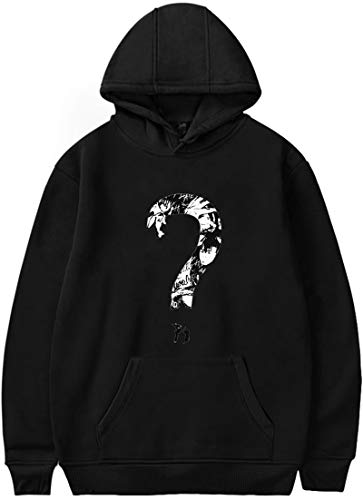 EmilyLe Unisex Hoodies Rapper RIP Xxxtentacion Hip Hop Sweatshirt(S,Question Mark Black) ()