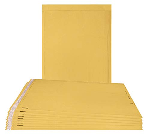 Airjackets Kraft padded envelopes 12x18 Bubble Mailers 12 x 18. Pack of 10 large bubble envelopes Peal and Seal. Yellow cushion envelopes. Shipping, mailing. Laminated golden kraft paper. Air jackets.