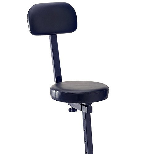 Stagg MT-300BK Professional Musicians Throne with High Backrest
