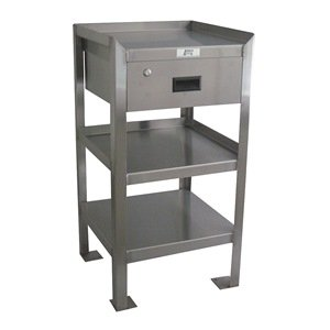 Jamco Products Inc XU118 Stainless Narrow Work Stand 1 Drawer 3 Shelves 18 x 18, by Jamco Products