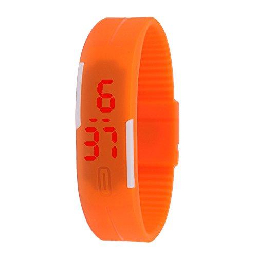 LsvtrUS Unisex Rubber LED Watch Date Sports Bracelet Digital Wrist Watch - Led Watch Sports Bracelet