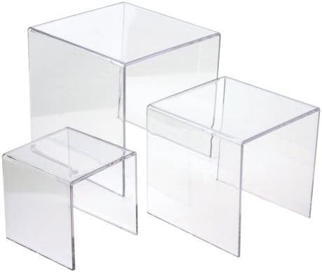 Ifavor123 Clear Acrylic Riser Set 1 Set 3, 4, 5 3 Display Stand Risers
