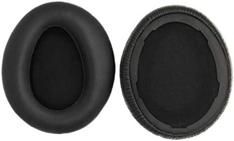 P Prettyia 交換用 ヘッドフォン イヤーパッド 耳クッション SONY MDR-10RBT MDR-10RNC MDR-10R対応 - 黒