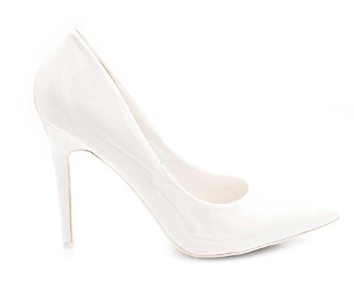 Haut Talon Talon Femme Chaussures Aiguilles Chaussures Escarpin Escarpin Dégardés Blanc Talon Escarpins Femmes Vernis Fin Escarpin Fashion 11CM Shoes 7wBaq81w