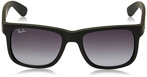 Ray-Ban JUSTIN - RUBBER BLACK Frame GREY GRADIENT Lenses 51mm Non-Polarized
