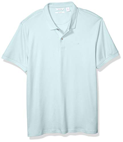 (Calvin Klein Men's Polo Solid with UV Protection 1, Bright ICE Summer, X-Small)