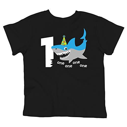 Shark 1st Birthday Shirt for Baby Boys Shark