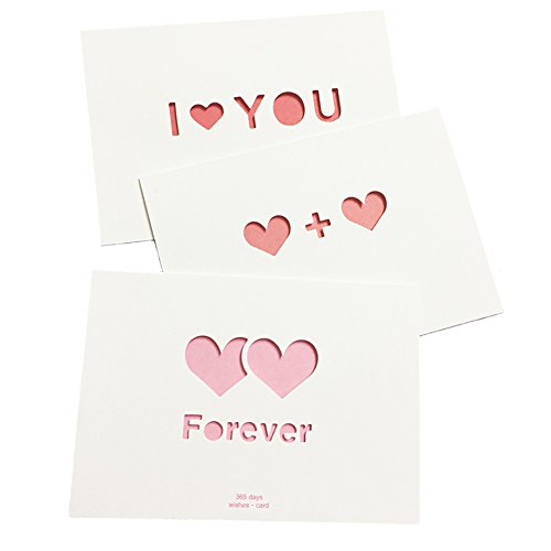 Love Cards, Love Greeting Cards Envelopes For Every Occasion, Holiday Personalized Blank Love Greeting Cards Set of 16 PCS/Set
