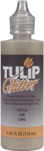Tulip Dimensional Fabric Paint 4oz Glitter Gold
