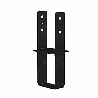 Simpson Strong-Tie 6 in. x 6 in. 7-Gauge Black Powder-Coated Column Base
