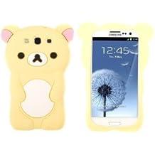 rilakkuma Cute Bear 3D TPU Soft Silicone Case Cover for Samsung Galaxy S3 I9300 yellow