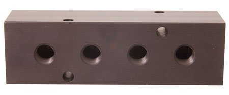 MM-10 Aluminum Single-Sided Ports Manifold 1/4 NPT Ports, 3/8 NPT Inlet by RSC