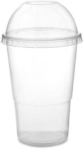milkshake ed altri ideale per smoothie Confezione di 100 bicchieri con coperchio a cupola 300/ml Drinkstuff