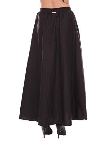 Femme set Ms8gdd00006 Jupe Twin Noir Coton 0HCRx4xvn