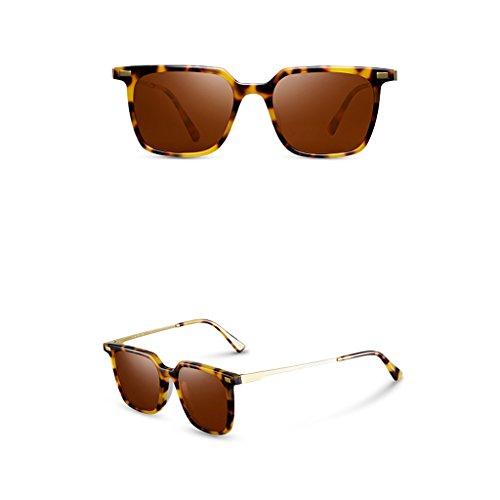 lunettes lunettes de stéréo miroir de lunettes soleil soleil soleil conduite carrées soleil polarisées verres de C Hommes Hommes lunettes de pilote q0vHE4