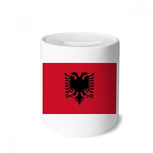 DIYthinker Albania National Flag Europe Country Money Box Saving Banks Ceramic Coin Case Kids Adults
