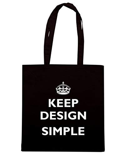 Speed Shirt Borsa Shopper Nera TKC3413 KEEP SIMPLE