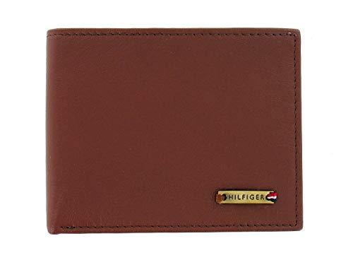 Tommy Hilfiger Men's Tan Genuine Leather | ID Holder | Bi-Fold Wallet
