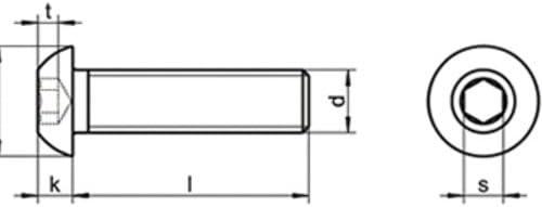 10 Stk ISO 7380 A2 M 10X40 Linsenkopfschrauben Innensechskant EDELSTAHL V2A A2