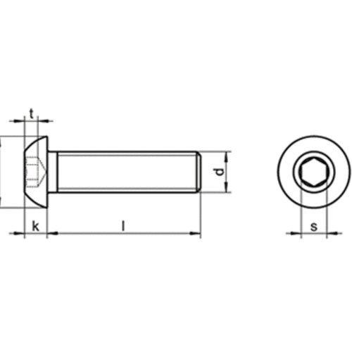 20 Stk ISO 7380 A2 M 6X70 Linsenkopfschrauben Innensechskant EDELSTAHL V2A A2