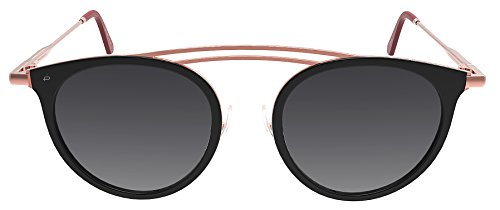"PRIVÉ REVAUX Madelaine Collection ""Rogue"" Handcrafted Designer Sunglasses (Rose Gold/Black)"