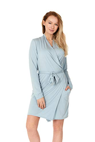 X America Junior and Plus Size Robes for Women with Pockets and Belt 10+ Colors! (Medium, Sky Blue)