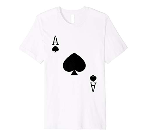 Ace Spades Poker Texas Hold em Deck Cards Playing Costume  Premium T-Shirt]()