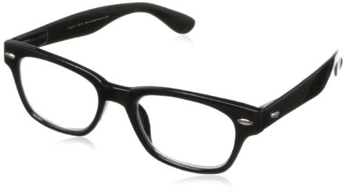 Peepers Men's Clark Kent Wayfarer Reading Glasses,Black,+1