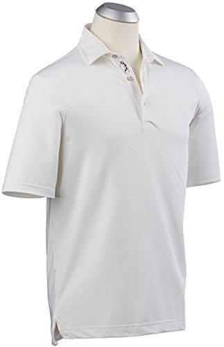 - Bobby Jones Men's Xh2o Performance Solid Jersey, White, Large
