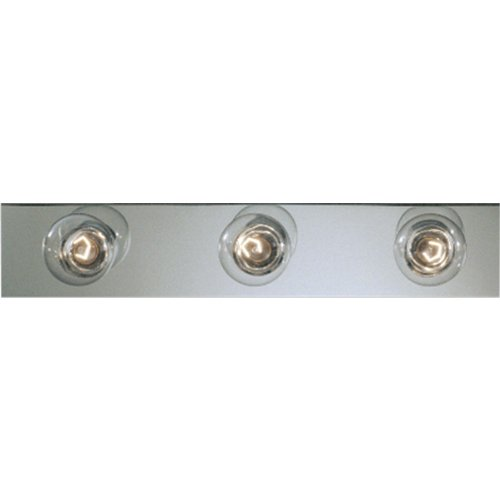 Progress Lighting P3114-15 Basic Broadway Lighting Strips That Use Fewer Lamps on 7-1/2 Inch Centers and UL Listed for Ceiling Mounting with 25 Watt Lamps, Polished Chrome