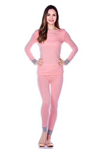 Cute Nursing Pajamas (Bearsland Women's Maternity Autumn Long Sleeves Breastfeeding and Nursing Pajama)