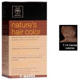 Tinte permanente del cabello 7.14 ASH COPPERY