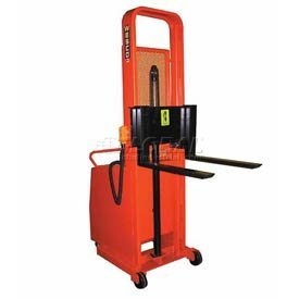 (Wesco Industrial 261096 Battery Powered Lift Counter Balanced Stacker 56 x 30)