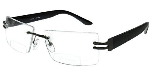 """American Woman"" designer rimless bifocal reading glasses fo"