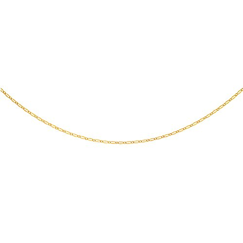 14K Yellow Gold Alternate Long Textured an d Short Shiny Oval link Fancy Necklace Spring Ring Clasp by MC Creations