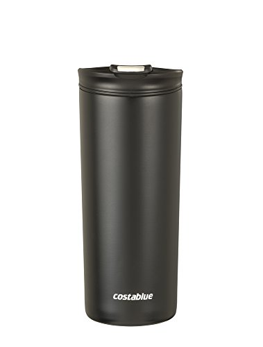 Starbucks Travel Coffee Mugs - Costablue Vacuum Insulated Stainless Steel Travel mug , 16 Oz Easy to clean and leak proof lid, Color Matte Black