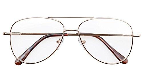metal con Piloto Gafas de bisasgras de Eyekepper Oro marco resorte 75 0 oro estilo qwZXxYB