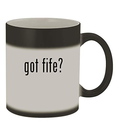 got fife? - 11oz Color Changing Sturdy Ceramic Coffee Cup Mug, Matte Black